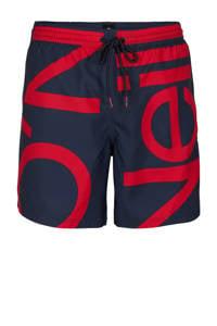 O'Neill Blue zwemshort Cali Zoom met logo donkerblauw/rood, Donkerblauw/rood