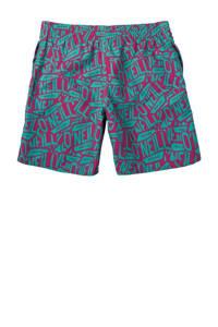 O'Neill Blue zwemshort met all over print groen/fuchsia, Groen/fuchsia
