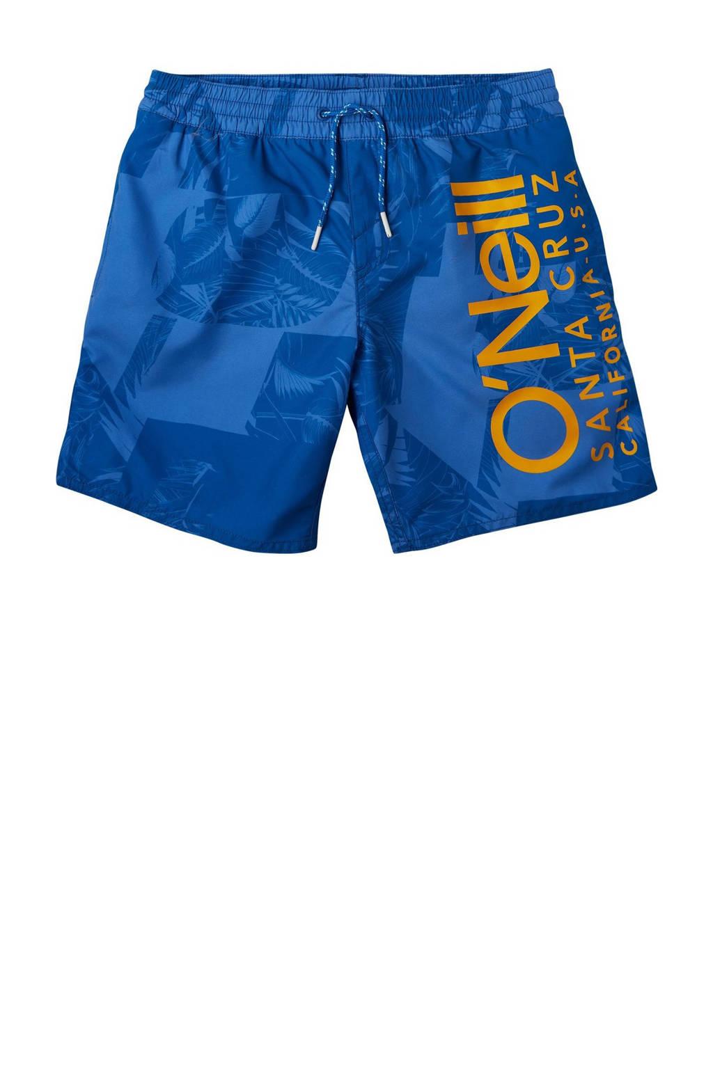 O'Neill Blue zwemshort Cali met all over print blauw, Blauw