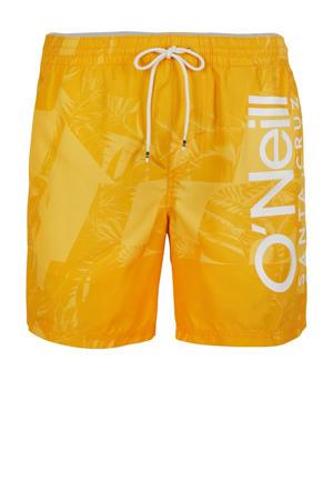 zwemshort Cali met all over print oranje