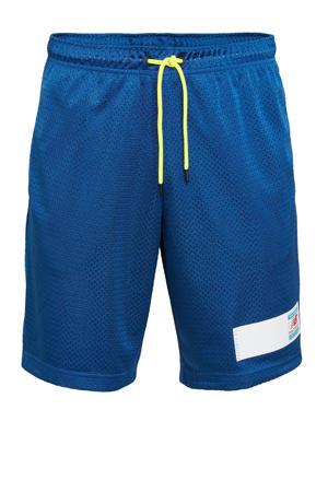 regular fit short met logo blauw