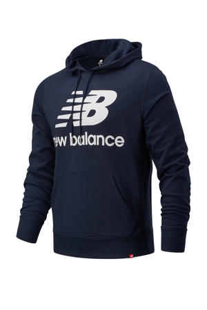 hoodie donkerblauw/wit