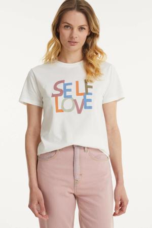 T-shirt Self van biologisch katoen wit