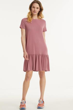 A-lijn jurk Conny met volant roze