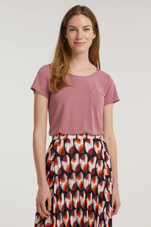 T-shirt Columbine roze