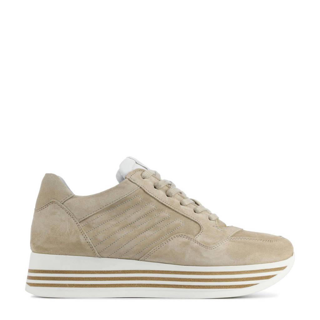 Via Vai 5209036  suède plateau sneakers beige, Beige
