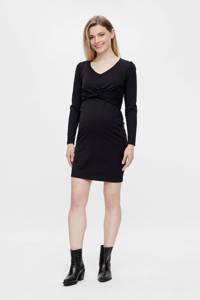 MAMALICIOUS zwangerschaps- en voedingsjurk MLMACY van gerecycled polyester zwart, Zwart