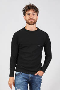 GABBIANO trui met textuur zwart, Zwart