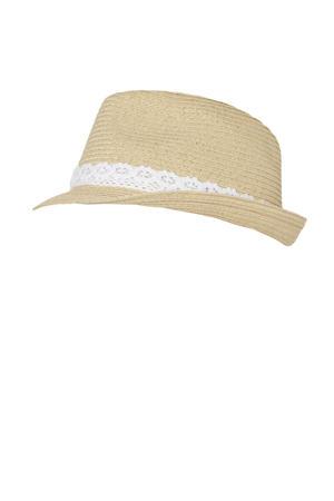 hoed naturel/wit