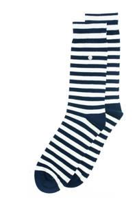 Alfredo Gonzales sokken Harbour Stripes donkerblauw/ecru, Donkerblauw/ecru