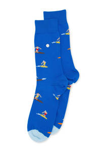 Alfredo Gonzales sokken Surf blauw, Blauw