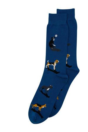 sokken Dogs donkerblauw