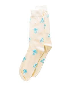 Alfredo Gonzales sokken Pineapple Logo lichtgeel, Lichtgeel