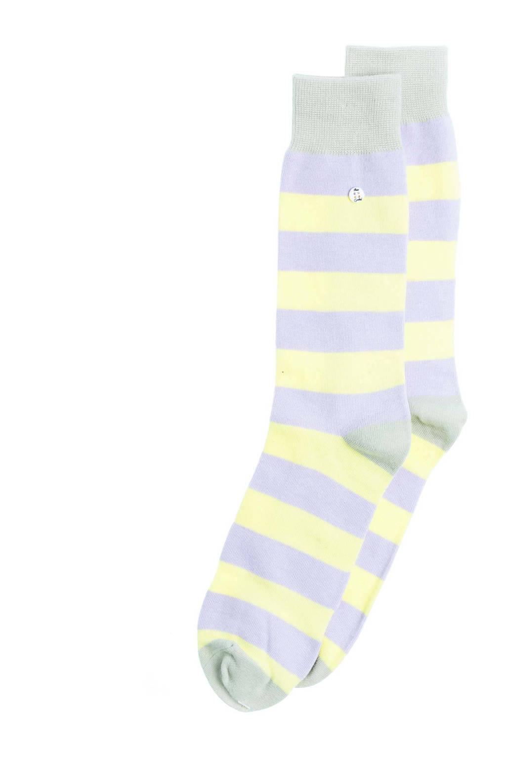 Alfredo Gonzales sokken Stripes Purple lila/geel, Lila/geel