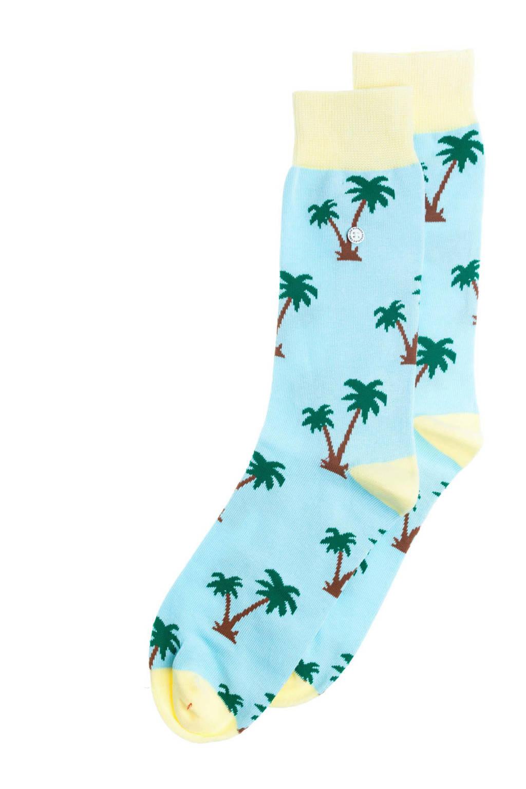 Alfredo Gonzales sokken Palm Springs lichtblauw, Lichtblauw