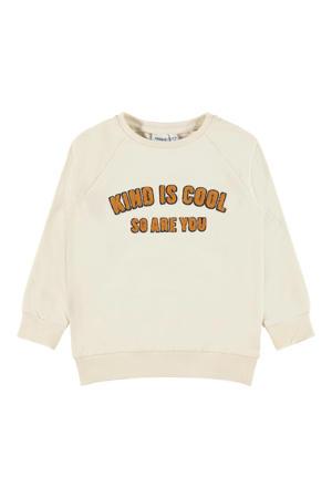 sweater Lakind met tekst ecru