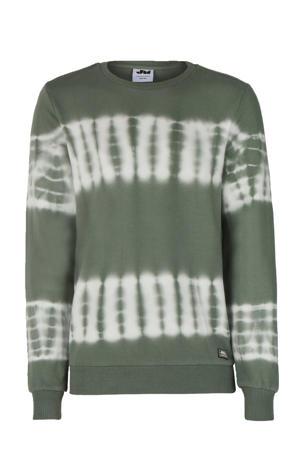 tie-dye sweater Bob groen/ecru