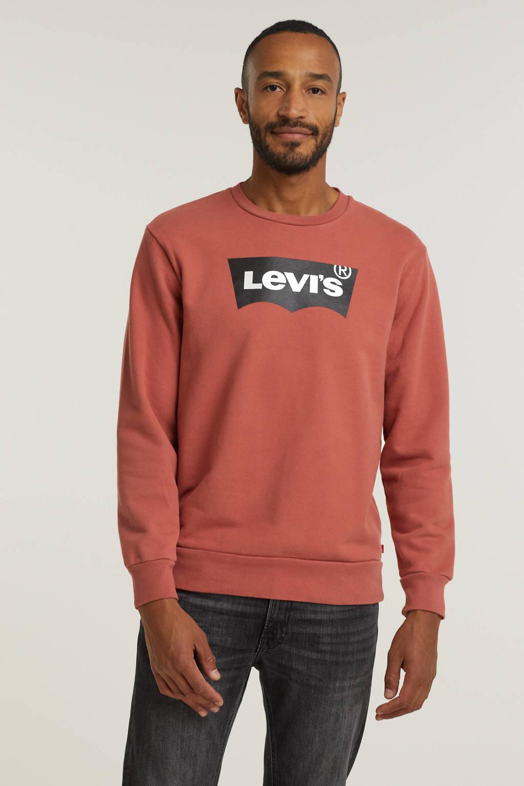 Levi's sweater met logo brique, Brique
