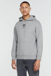 Levi's hoodie met logo grijs melange, Grijs melange