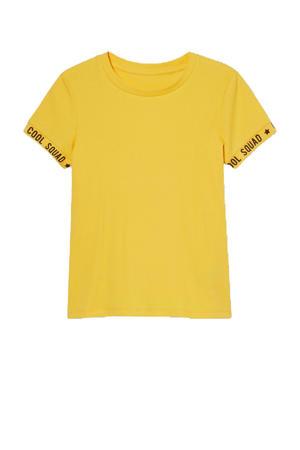 T-shirt met biologisch katoen geel