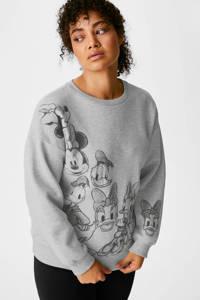 C&A sweater met panterprint grijs, Grijs