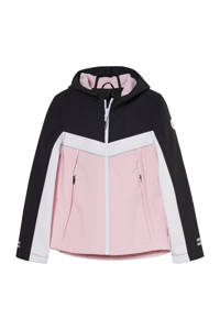 C&A Here & There softshell jas tussen roze/wit/zwart, Roze/wit/zwart