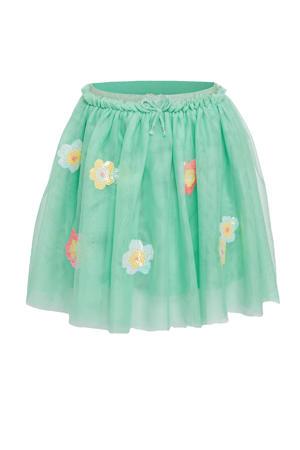 gebloemde rok groen