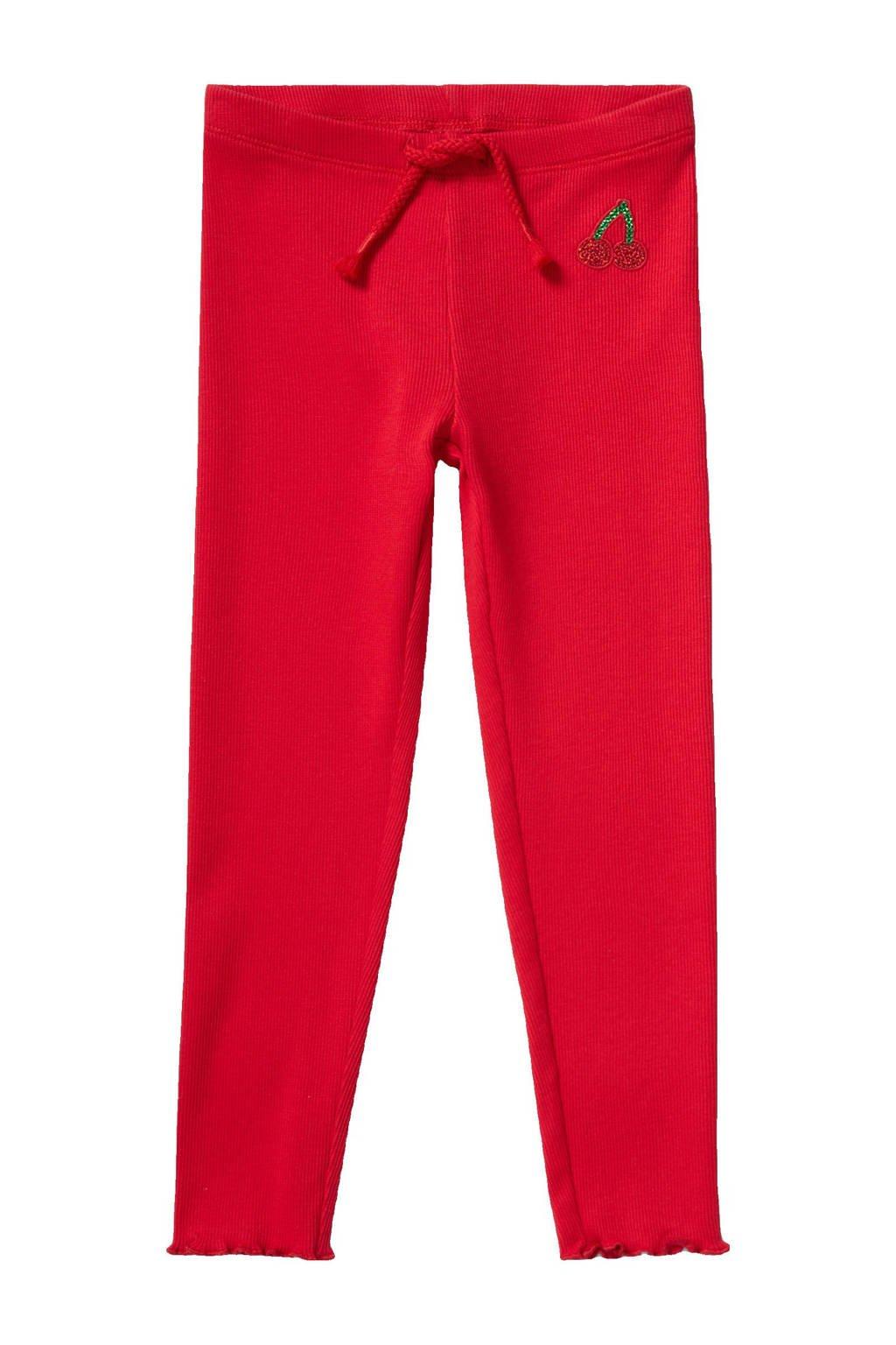 C&A Palomino slim fit broek met biologisch katoen rood, Rood