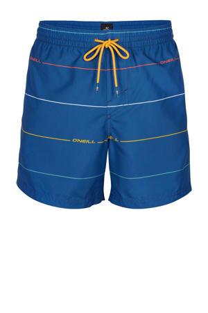 zwemshort Contourz met strepen blauw