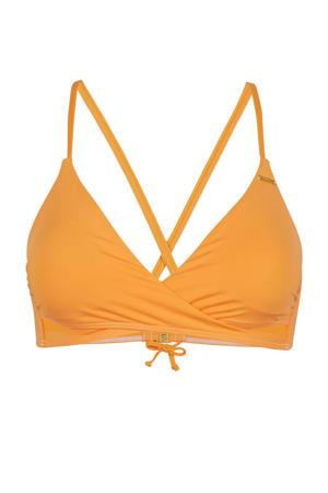 overslag triangel bikinitop Baay oranje