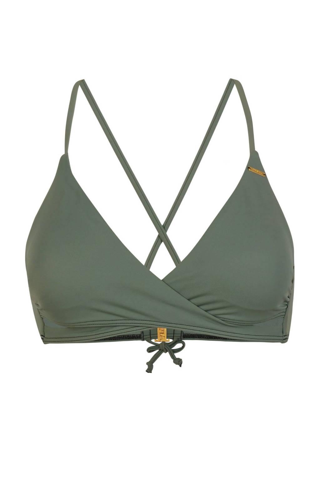 O'Neill Blue overslag triangel bikinitop Baay olijfgroen, Olijfgroen