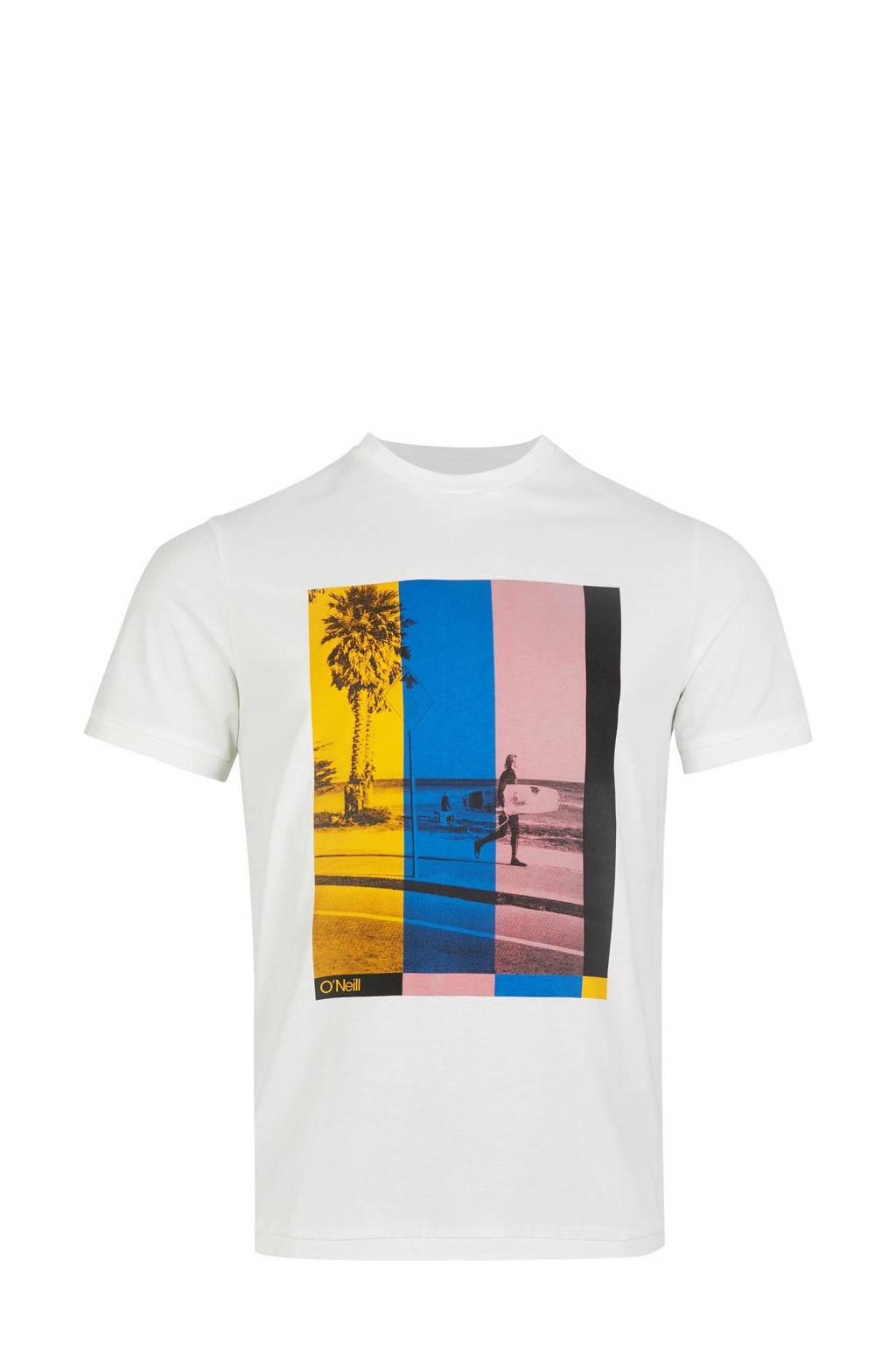 O'Neill Blue T-shirt Colour TV  wit, Wit
