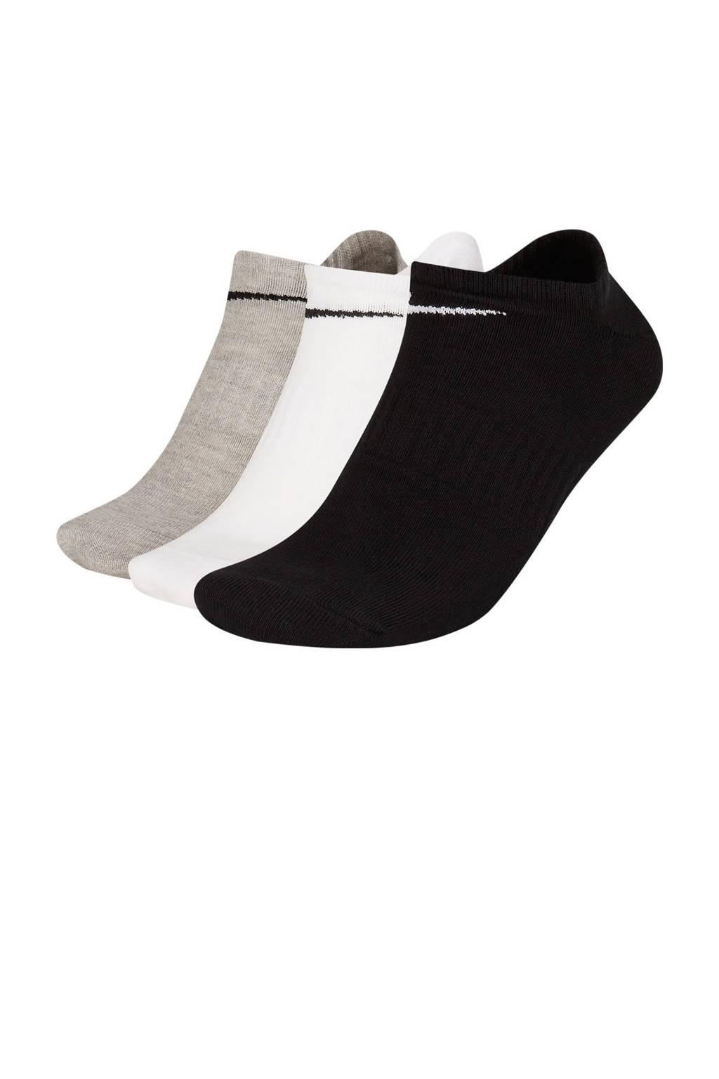 Nike sokken - set van 3 zwart/grijs/wit, Zwart/grijs/wit