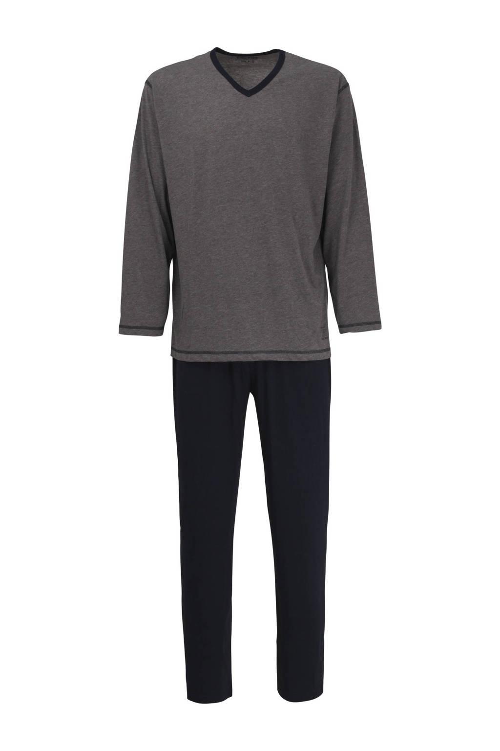 Ceceba pyjama met strepen donkergrijs, Donkergrijs