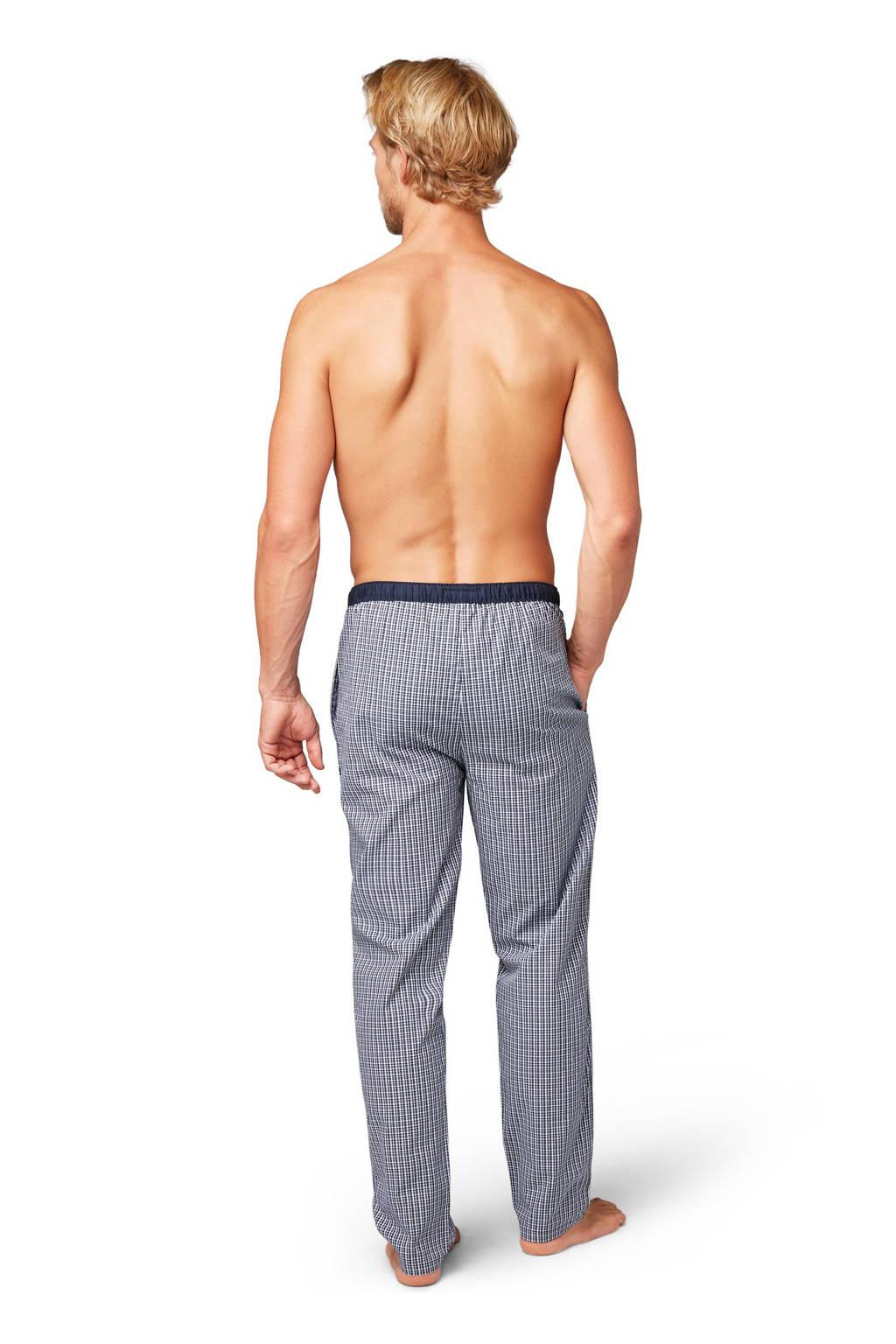 Tom Tailor geruite pyjamabroek donkerblauw/wit, Donkerblauw
