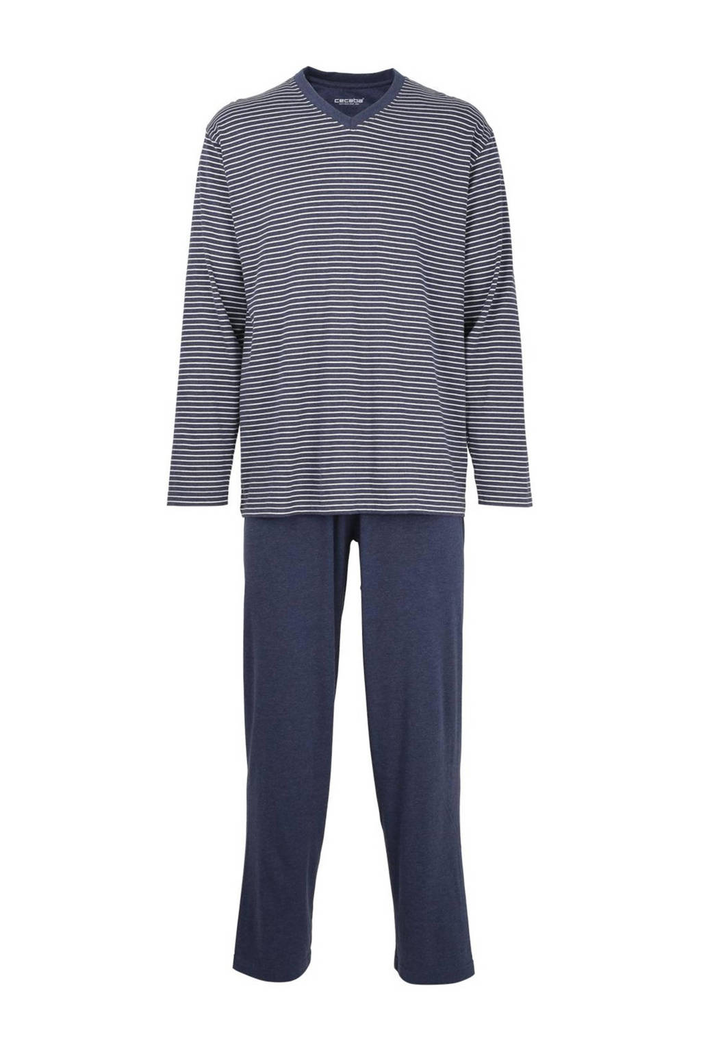 Ceceba pyjama met strepen blauw, Blauw