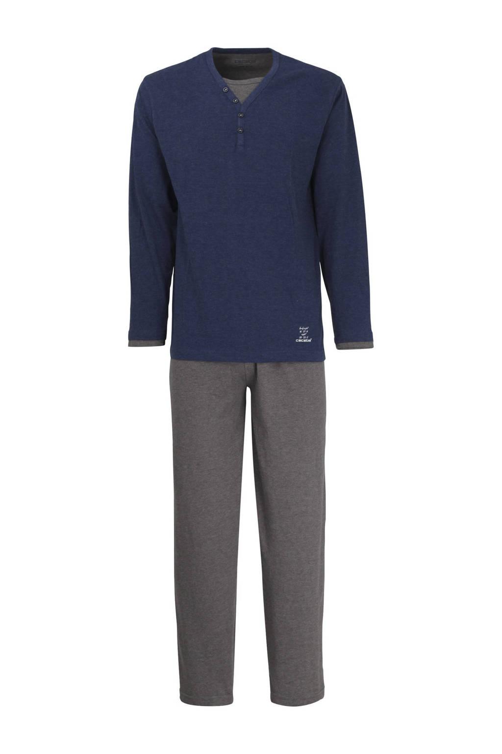 Ceceba pyjama donkerblauw/grijs, Donkerblauw/grijs