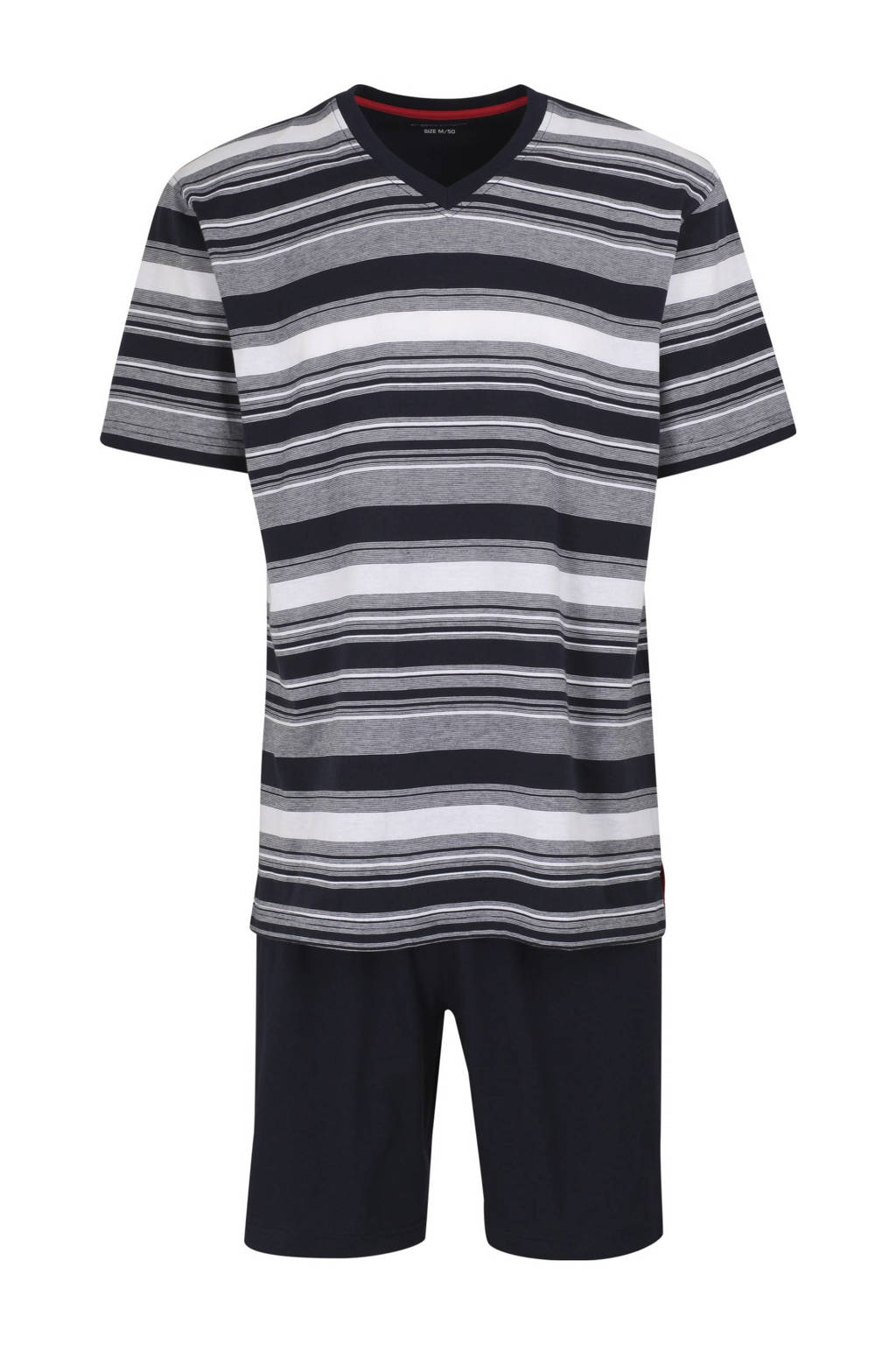 Ceceba shortama met strepen donkerblauw/wit, Donkerblauw/wit