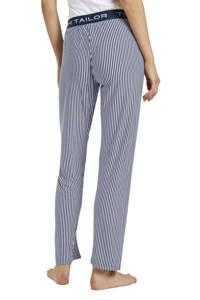 Tom Tailor gestreepte pyjamabroek donkerblauw/wit, Donkerblauw/wit