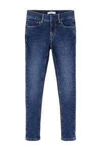 NAME IT KIDS skinny jeans NKFPOLLY met biologisch katoen dark denim, Dark denim