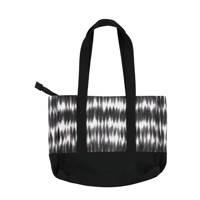 Sarlini  strandtas met tie-dye print zwart/wit, Zwart/wit