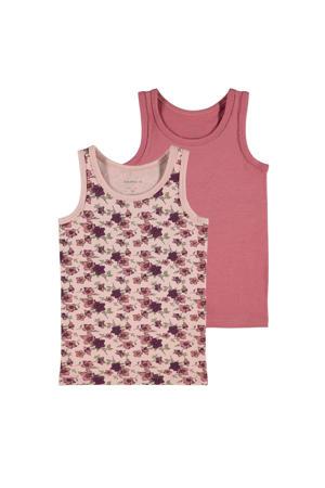 hemd - set van 2 roze/oudroze