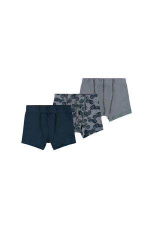 boxershort - set van 3 grijs/blauw