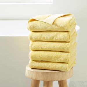 handdoek hotelkwaliteit (set van 5) (100 x 50 cm) Lichtgeel