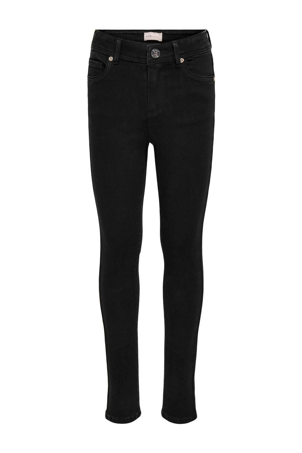 KIDS ONLY high waist skinny jeans KONWAUW zwart, Zwart