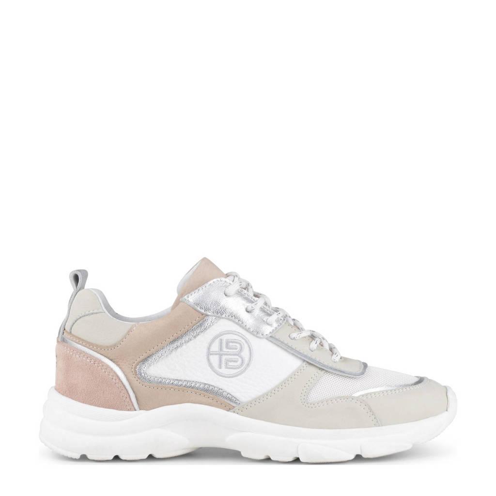 Haboob Agate  chunky nubuck sneakers beige/roze, Beige/roze/wit