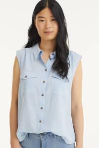 FREEQUENT blouse FQMELLA-SH lichtblauw, Lichtblauw