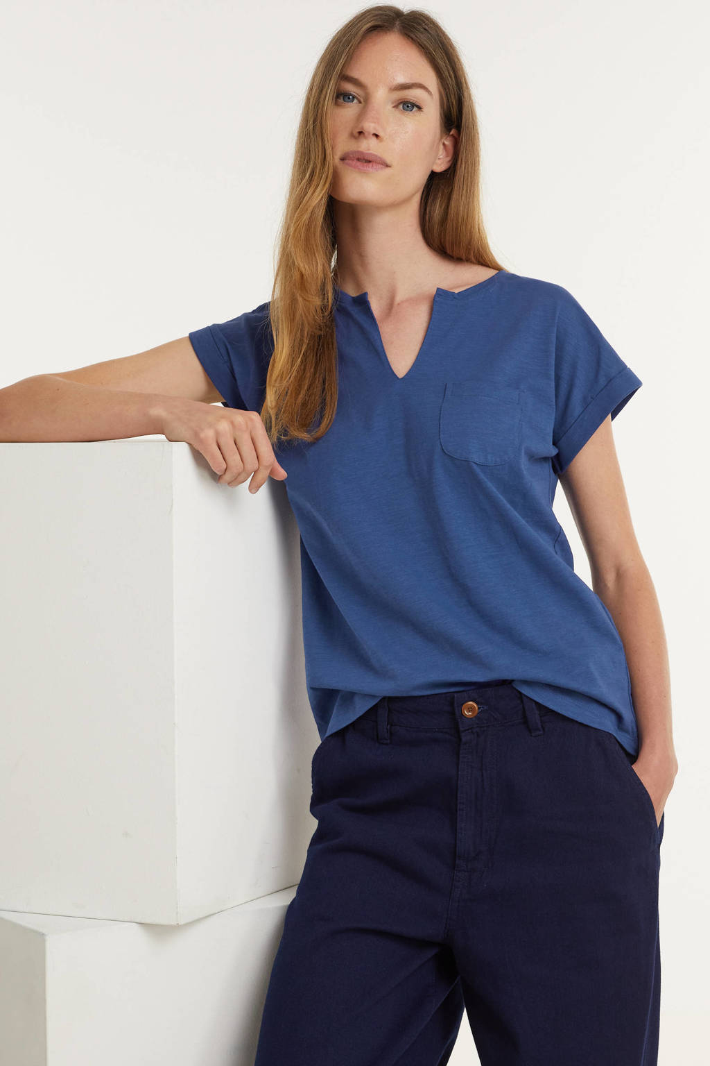 FREEQUENT T-shirt FQVIVA blauw, Blauw