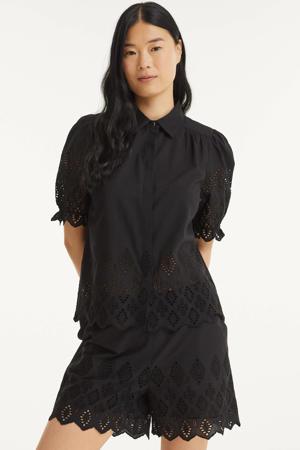 blouse FQEMBI met kant zwart