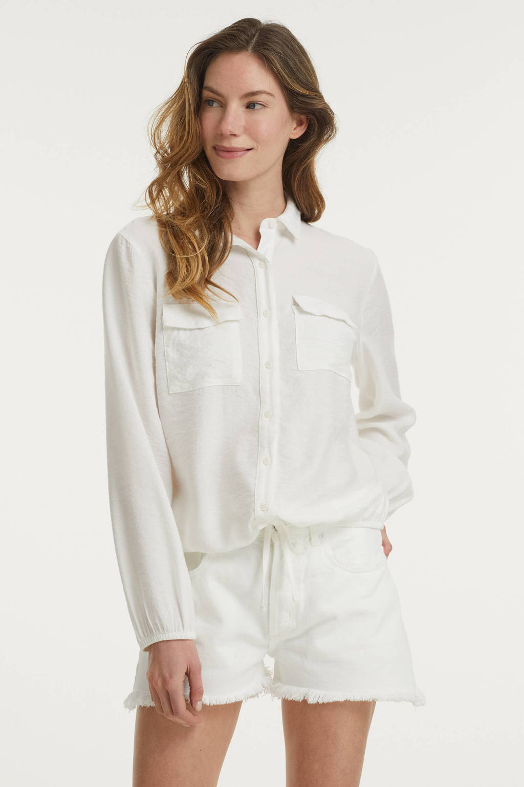 FREEQUENT top FQANNEY-SH offwhite, Offwhite